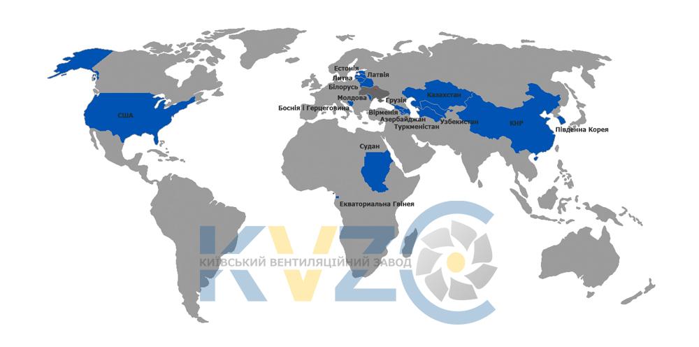 География поставок мапа